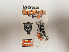 LaCrosse Catbirds 1985/86 CBA Basketball Pocket Schedule - Old Style