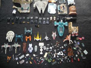 """BIG Star Wars Action Fleet Micro Machines lot + 3 3/4"""" figures & vehicles"""