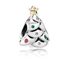 pandora Vintage Christmas tree  silver charm