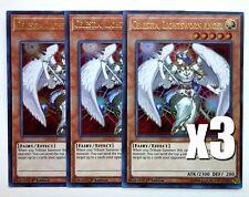 YuGiOh, 3X, Celestia, Lightsworn Angel, BLLR-EN040, Ultra Rare, New, Mint