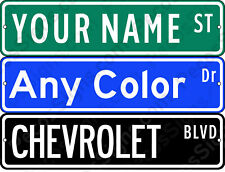 "Custom Made Street Sign Any Name or Color 18""x4"" Aluminum Made in USA NOT Vinyl"