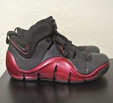 NIKE AIR ZOOM LEBRON IV 4 OG (Black/ Varsity Crimson)  - Men's Sz 11 314647-002