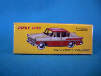 "DINKY TOYS SIMCA VEDETTE "" CHAMBORD ""   ÉDITIONS ATLAS 24 K"