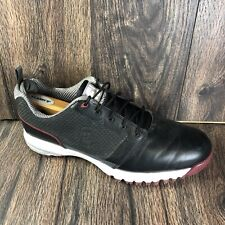 New listing FootJoy Comfort Fit Spike Golf Shoes 54098 Men's US Size 10.5 X Wide Black Red