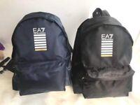 Emporio ARMANI Ea7 Men's Rucksack Backpack Laptop Travel Train Core Blue / Black