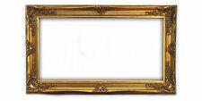 Cornice Classica in Legno - Interno 60x120 cm. - Quadro Oro Anticato