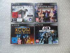 PS3 Promo Xcom Enemigo dentro PS3, Binary Domain PS3, Watch Dogs, Saints Row IV PS3