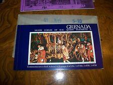 Queen Elizabeth Grenada 1977 Silver Jubilee Booklet 6-35-1-50-1-1- 1-3.00 Stamps