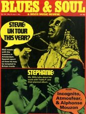 BLUES & SOUL MAGAZINE #330 STEVIE WONDER, STEPHANIE MILLS, INCOGNITO, ATMOSFEAR