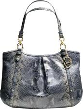 Coach  Alexandra Chain Embossed Exotic Tote Shoulder Bag