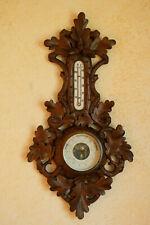 Antikes altes Wandbarometer Thermometer Eichen Massivholz
