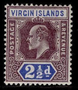 BRITISH VIRGIN ISLANDS EDVII SG57, ½d dull purple & ultramarine, LH MINT.