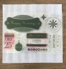 Close To My Heart ~ DECEMBER 25TH ~ C1469 ~ Acrylic Stamp Set