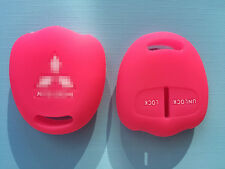 PINK SILICONE  KEY COVER CASE FOR MITSUBISHI LANCER OUTLANDER PAJERO TRITON EVO