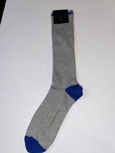 Brooks Brothers mens Gray W/ Blue socks