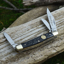 Boker Tree Brand Black Jigged Bone Medium Stockman Pocket Knife German 110728