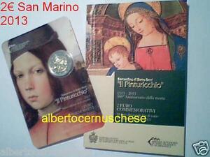 2013 2 euro SAN MARINO Saint Marin 500 morte PINTURICCHIO Сан - Марино