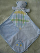 BABY ESSENTIALS Blue Bear Rattle Lovey Cute as a Button
