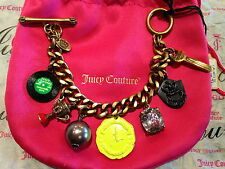 Authentic JUICY COUTURE Record Trophy Key CHARM BRACELET Limited YJRU5382 NWT