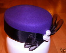 Purple Pillbox Fashion Church Hat Dress Tea Hats