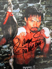 MANNY PACQUIAO SIGNED 8 x 10 Photo COA Buy Genuine TEAM PACQUIAO PRIVATE SIGNING