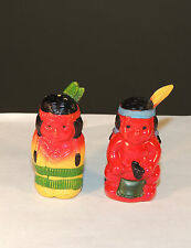 Plastic Indian Salt and Pepper Shakers (4276)