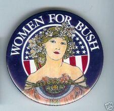 WOMEN George W. BUSH 2000 pin VICTORIAN ART DECO Noveau art pinback