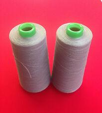 Grey Overlocking Polyester Thread Spools Box Of 5 X 5000M