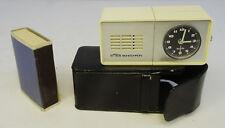 Ältere kl. EMES Reise Wecker Uhr - Mini Reisewecker im Etui ~70er