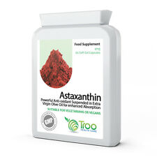 Astaxanthin 4mg 60 Capsules - Suspended In Virgin Olive Oil to Aid Absorption