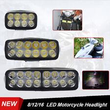 LED Motorcycle Headlight Dirt Bike ATV UTV Scooter External Spot Head Lamp Light