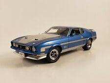 Danbury Mint 1971 Ford Mustang Mach 1 429 Cobra Jet Le Blue Amp Silver 124