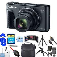 Canon PowerShot SX730 HS Digital Camera (Black) + Extra Battery 32GB Bundle