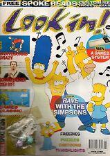 Look-In Magazine 2 February 1991      The Simpsons      Arnold Schwarzenegger