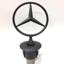 New Black Car Hood Emblem Decal Badge Sticker For Mercedes-Benz C E S 4.4CM