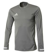 Adidas Men Team 19 Training L/S Shirts Gray Running Soccer Top Tee Jersey Dx7255