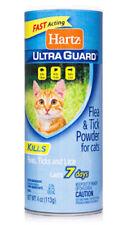 2 Hartz Ultra Guard FLEA & TICK CATS POWDER Kills Fleas Ticks Lice Lasts 7 Days