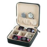 3 Grid Glasses Case Box Eyewear Sunglasses Display Storage Box Holder Organizer