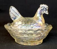 Boyd Art Glass Covered Rooster / Chick Salt Honeymoon Carnival #208 11-10-2006