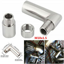 Silver O2 Oxygen Sensor Extender Spacer Detachable 90 Degree Angled Extension
