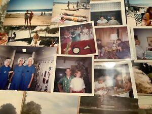 100 Old Color Photos Big Lot Vintage people places scenes Snapshots Photographs