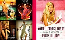 Paris Hilton Perfume Lot of 4 Different + Your Heiress Diary 2005 MT Photo Book
