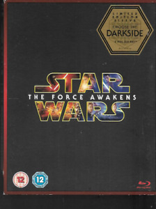 STAR WARS THE FORCE AWAKENS B/2 BLU RAY DVD HARRISON FORD 2-DISC LIMITED EDITION
