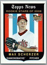 2008 Topps Heritage #519 Max Scherzer RC Arizona Diamondbacks