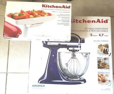 KitchenAid KSM105GBCBU Cobalt Stand Mixer New Bonus Accessory Included $424 msrp
