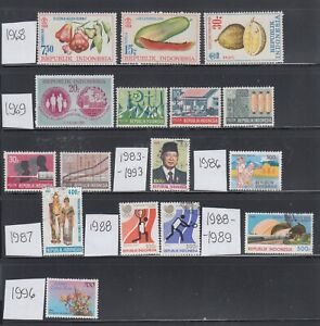 Indonesia 1968-1996 A mint and used and mostly sound collection