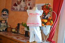 ensemble burberry 18 mois pantalon blanc noeuette haut blanc rose cwf