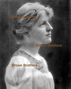 1913 Pres Woodrow Wilson Suffragette Daughter Jessie Glass Camera Negative #7