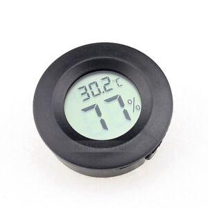 Mini Round Digital LCD Thermometer & Hygrometer Temperature Humidity Meter New