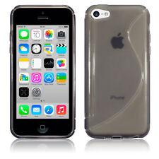 Genuino Apple Iphone 5C híbrido caso TPU Gel Flex Tech 2 de Agarre Parachoques Negro de Humo